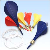 Lawn darts the size of mosquitoes